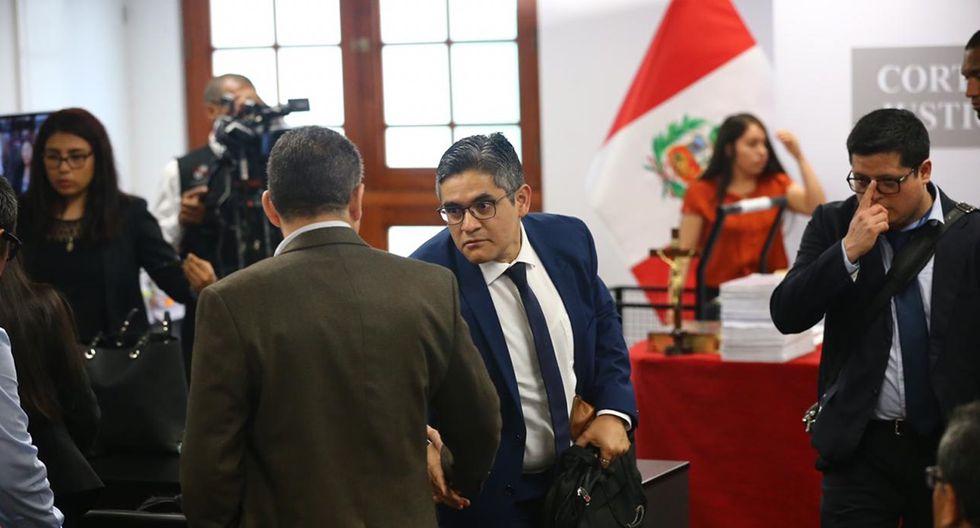 Fiscal José Domingo Pérez seguirá exponiendo sus alegatos a favor de prisión preventiva para Keiko Fujimori este martes 31. (Foto: Hugo Curotto / GEC)