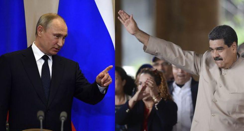 Vladimir Putin le dio su apoyo a Nicolás Maduro. (AFP)