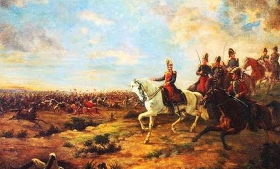 En las tropas dirigidas por Simón Bolívar fi guraban Mariano Necochea, José de La Mar y Antonio José de Sucre. Foto: Difusión
