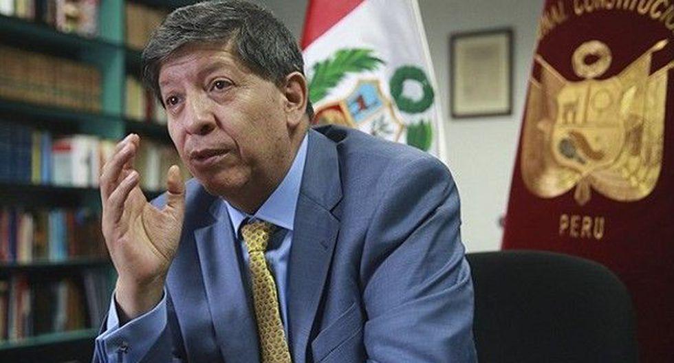 """El magistrado del TC Carlos Ramos Núñez consideró que hubo un """"afán de apresuramiento"""" en la elección de Gonzalo Ortiz de Zevallos. (Foto: El Peruano)"""