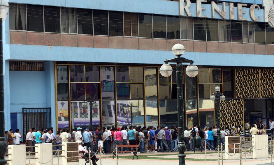 Reniec estableció una programación de atención por los días que sus trabajadores acataron una huelga (Foto: Andina)