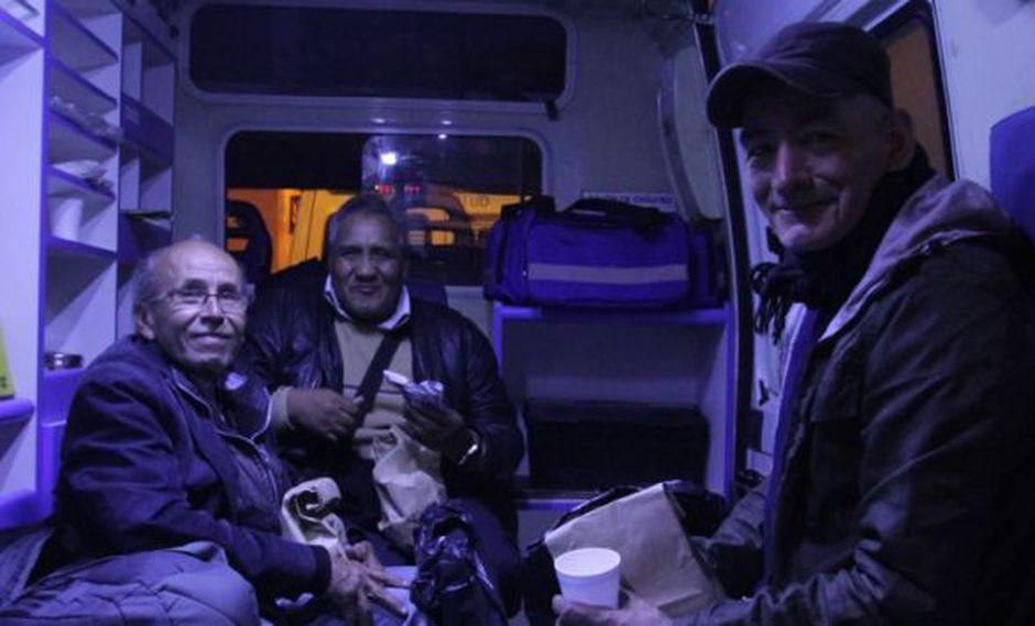 Los adultos mayores rescatados de las calles del Centro de Lima pasaron por una evaluación médica. (Difusión)