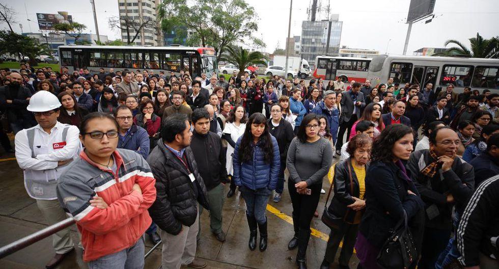 Actividades fueron paralizadas durante el simulacro de sismo. (Foto: Ministerio de Cultura)