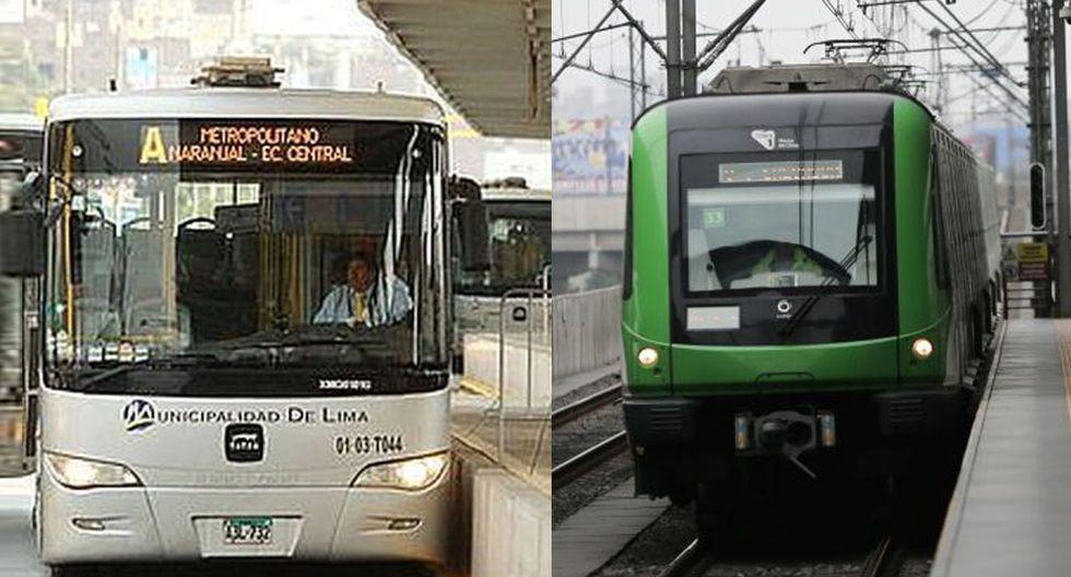 Ante la inmovilización obligatoria (toque de queda) dispuesto por Ejecutivo, el Metropolitano y la Línea 1 del Metro de Lima dieron a conocer sus nuevos horarios de atenciones. (Foto: GEC)