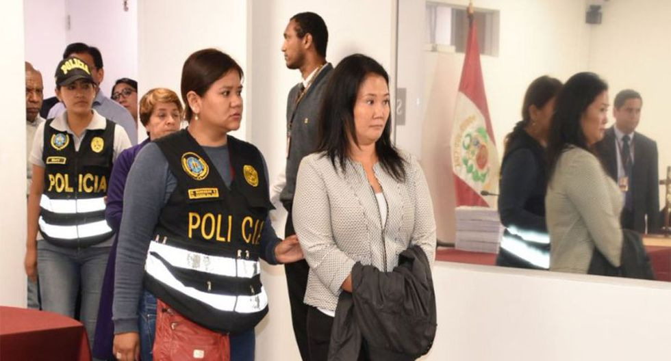 Keiko Fujimori fue detenida preliminarmente el 10 de octubre por orden del juez Richard Concepción Carhuancho. (Foto: PJ)