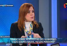 """Mercedes Araoz: """"Lo que dijo Del Solar, han sido golpes bajos, pero los perdono"""""""