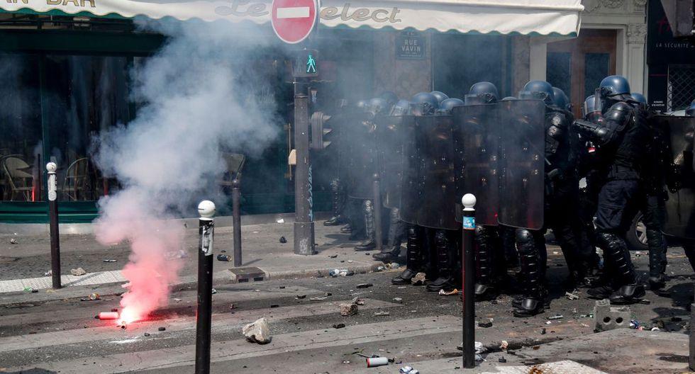 Los incidentes ocurren previo a la manifestación por el primero de mayo. (Foto: AFP)