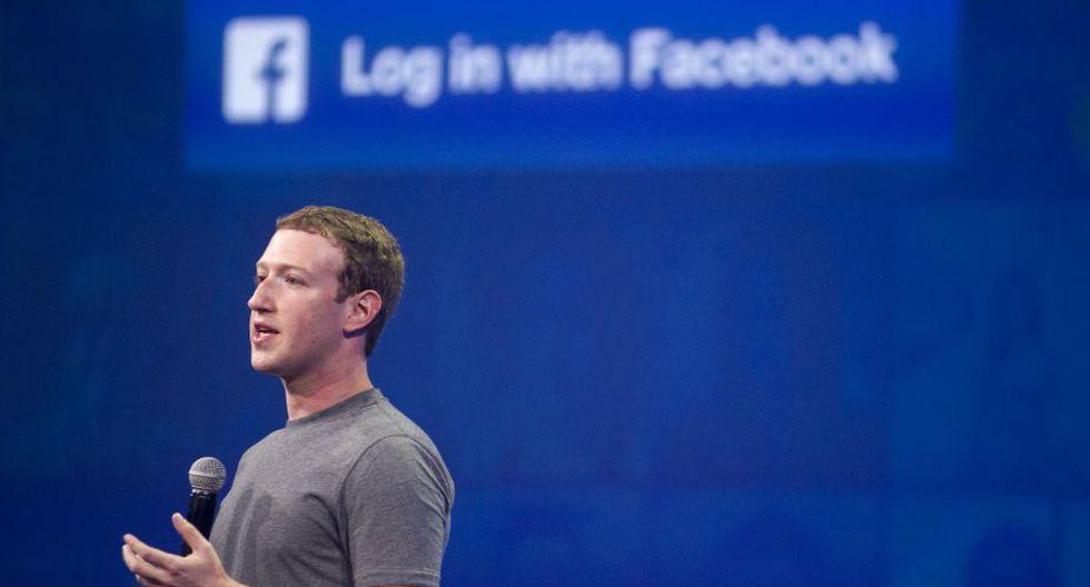 El fundador de Facebook, Mark Zuckerberg, se sitúa en cuarta posición con un valor de 41.200 millones. (Foto: AFP)