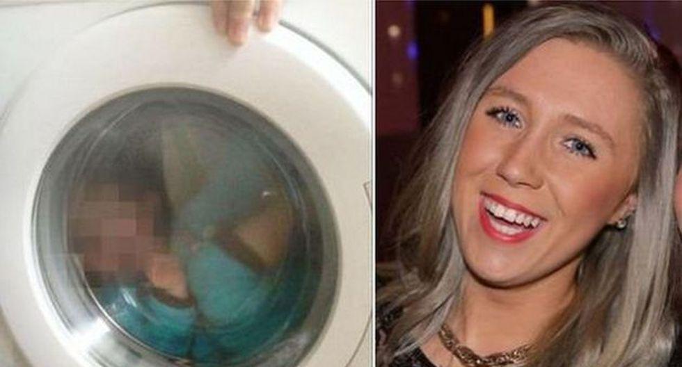 """""""Él ama la lavadora. Tomamos una foto y nos reímos"""", señaló la madre. (Foto: Facebook)"""
