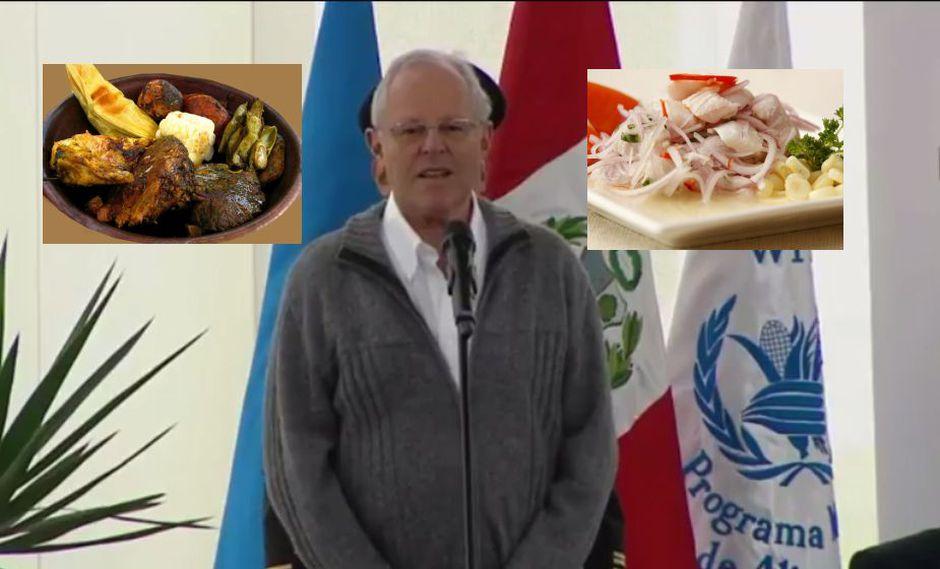 Pedro Pablo Kuczynski habla de la cocina peruana.