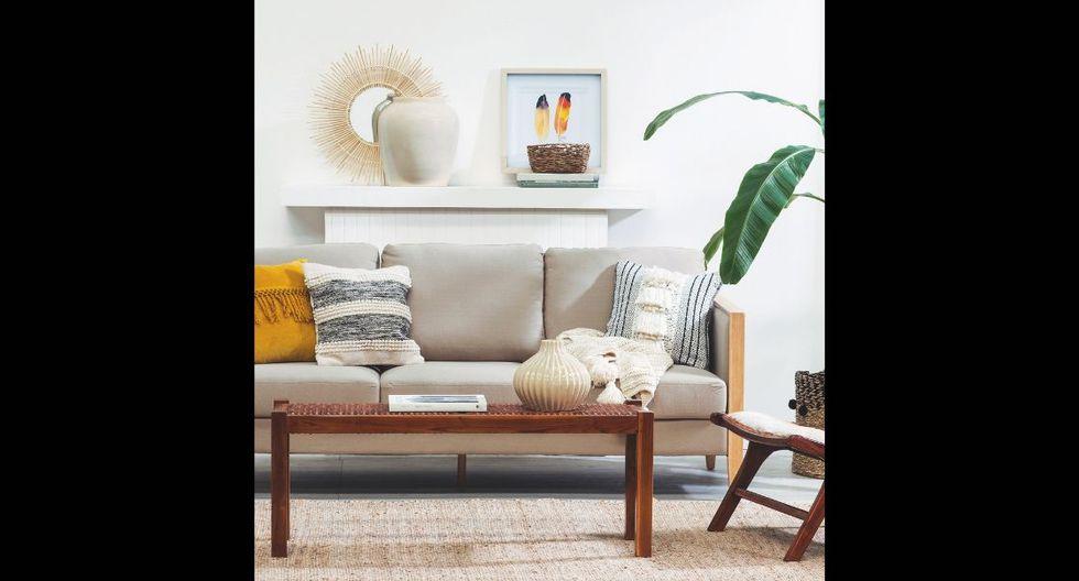 Natura. Crea un ambiente relajante y cálido con la tendencia Natura. Los tonos rojos, naranjas y amarillos, y la presencia de materiales tipo mimbre le darán un aspecto armonioso a tu sala. (Foto: Paris)