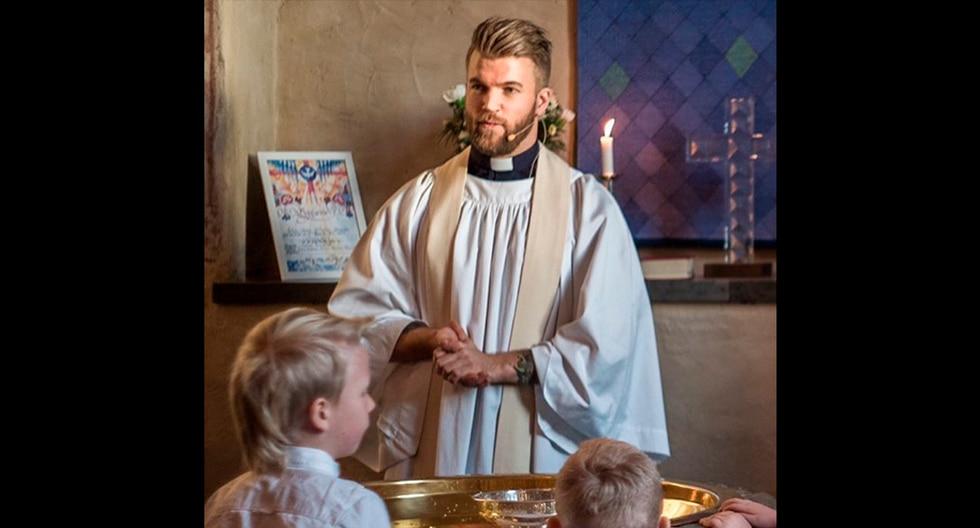 Oskar Arngården, el cura sueco que revoluciona las redes con sus lecciones de crossfit y su gran parecido al actor Chris Hemsworth. (Instagram | crossfitpriest)