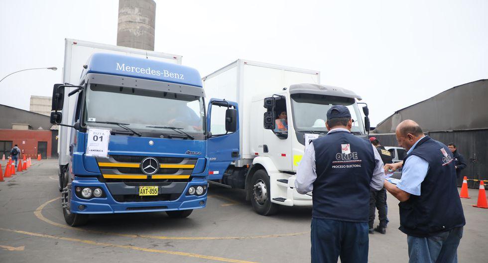 La ONPE seguirá a través de un monitoreo satelital a cada una de las unidades de transporte que trasladarán el material electoral. (Foto: ONPE)