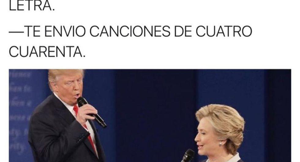 Hillary Clinton, Donald Trump y los divertidos memes del debate.