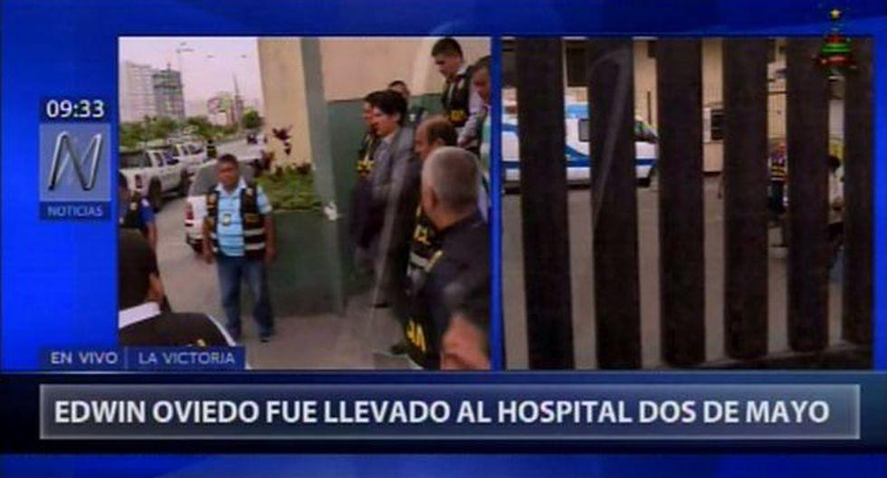 El expresidente de la FPF, Edwin Oviendo, fue trasladado de la sede de Requisitorias hasta las oficinas de Medicina Legal. (Foto: Canal N)