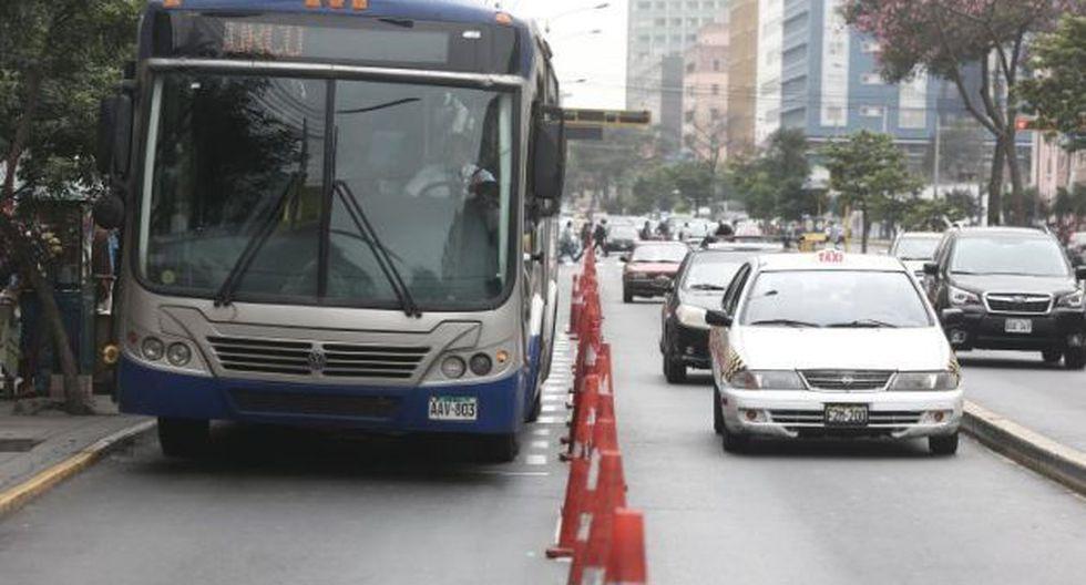 Un agente PNP fue impedido de ingresar a un bus del Corredor Azul. (Foto referencial: GEC)