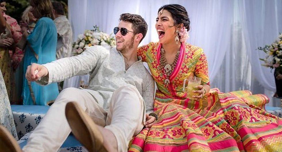 La pareja gastó más de medio millón de dólares para realizar su boda en la India. (Foto: Agencia/@nickjonas)
