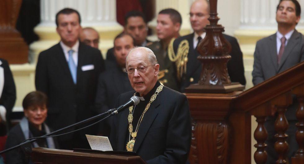 Cardenal Cipriani opinó sobre la difícil situación política del país. (Foto: GEC)