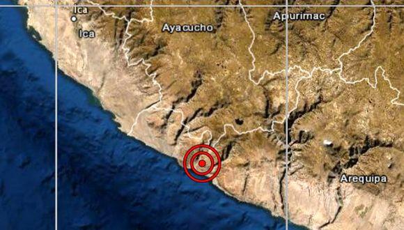 De acuerdo con el IGP, el epicentro de este movimiento telúrico se ubicó a 62 kilómetros al suroeste de Chala. (Foto: IGP)