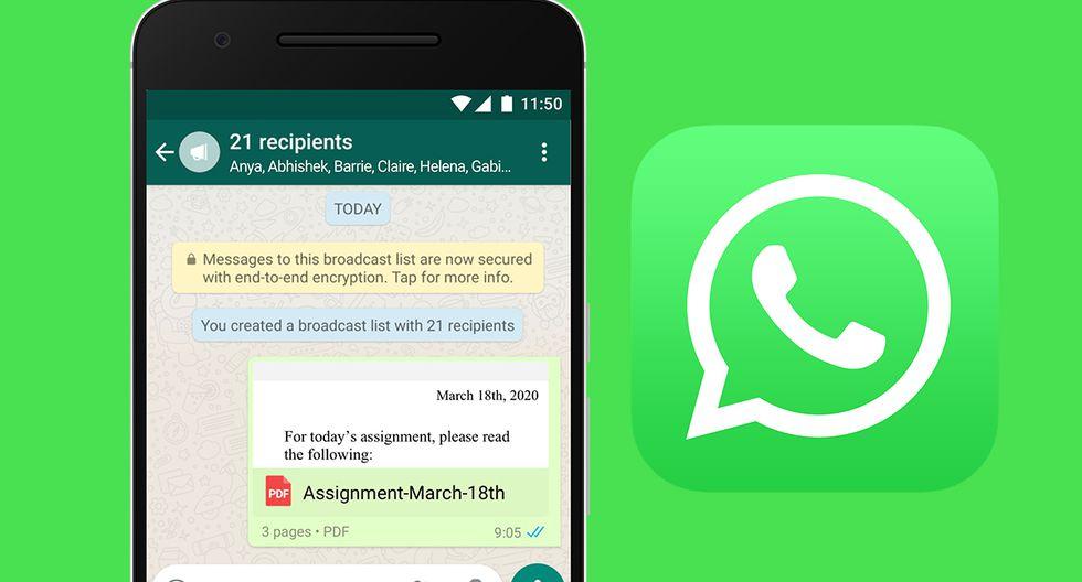 ¿Sabes cómo dictar clases a través de WhatsApp? Aplicación te brinda una serie de consejos si eres profesor. (Foto: WhatsApp)