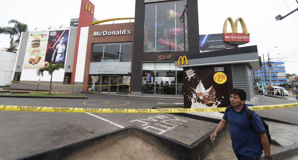 Local de McDonald's fue clausurado por la Municipalidad de Pueblo Libre. (Renzo Salazar/GEC)