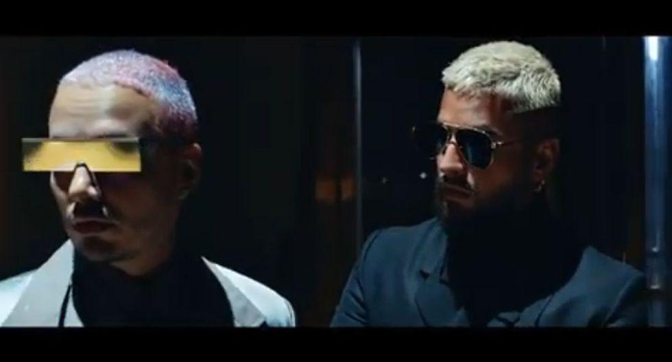 """Maluma y J Balvin anuncian la fecha de lanzamiento de su nueva colaboración titulada """"Qué pena"""". (Foto: Captura de video)"""