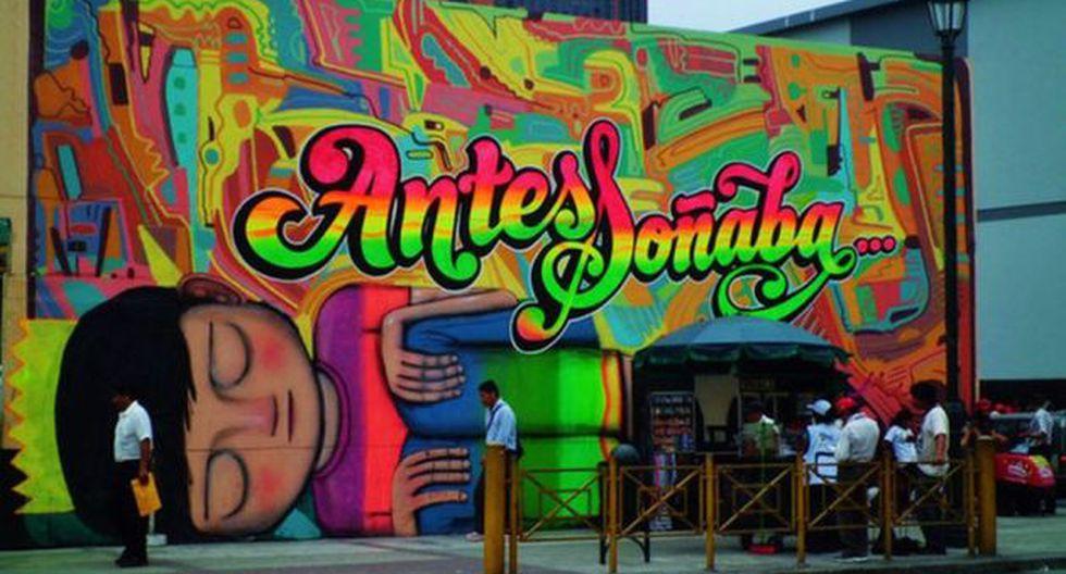 Aquí un mural de Elliot Tupac que todavía decora el Jr. Lampa. (Twitter)