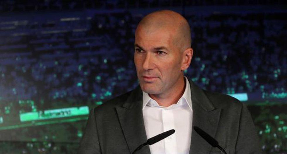 Zidane fue presentado este martes como nuevo técnico del Real Madrid y tomará el banquillo merengue tras la salida de Santiago Solari por malos resultados. (Foto: EFE)