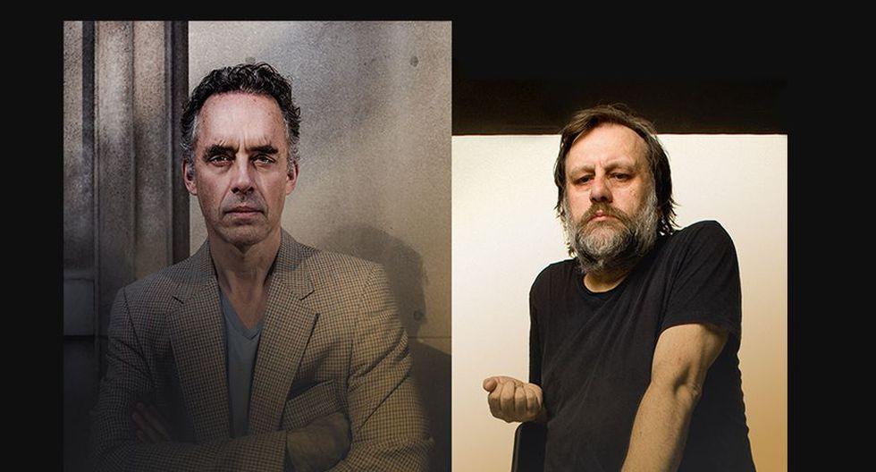 Jordan Peterson y Slavoj Zizek (Sonycentre.ca)