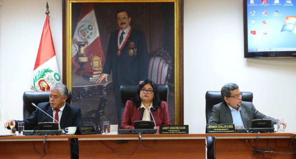 Janet Sánchez se mantendrá como titular del grupo de trabajo para el periodo 2019-2020. (Foto: Congreso)
