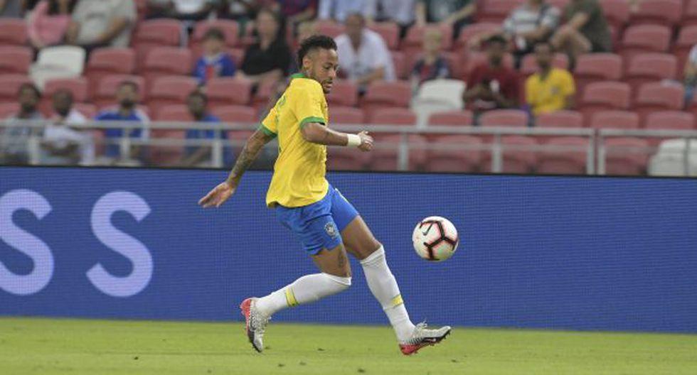 Neymar cumplió 100 partidos con camiseta de la selección de Brasil. (Foto: AFP)