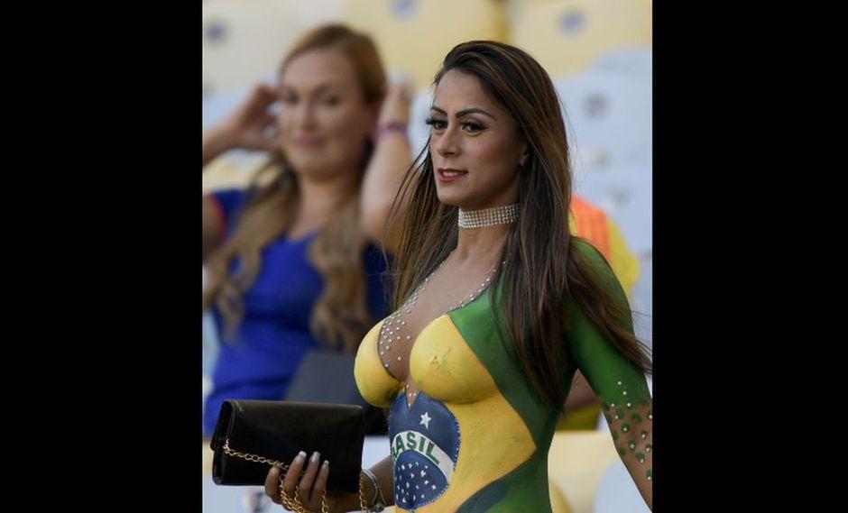 Brasil 2019: hincha apareció así en el estadio Maracaná. (AFP)