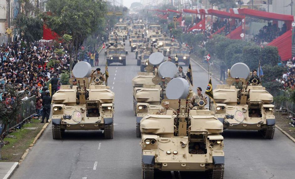 El Perú realizó este lunes la Gran Parada Militar con participación de las Fuerzas Armadas. (Foto: GEC)