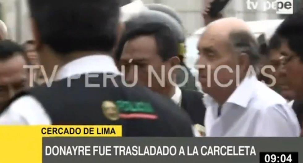 el Instituto Nacional Penitenciario del Perú (INPE) determinará a qué penal será derivado. (Captura: TV Perú)
