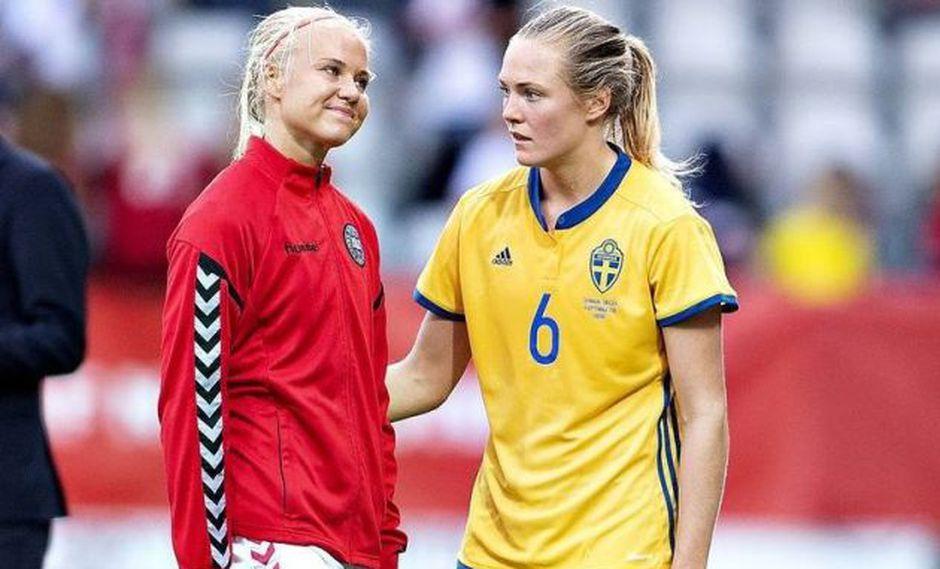 Magdalena Eriksson fue rival de Pernille Harder durante la fase de clasificación al Mundial Femenino de Fútbol.