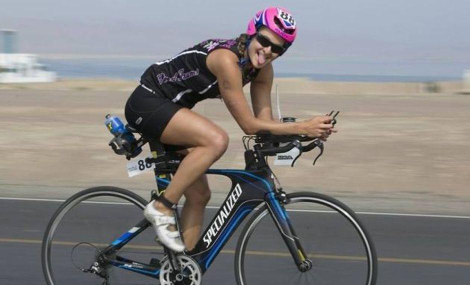 Triatleta Elise Portugal durante sus entrenamientos en Lima. (Foto: Ifitness.pe)