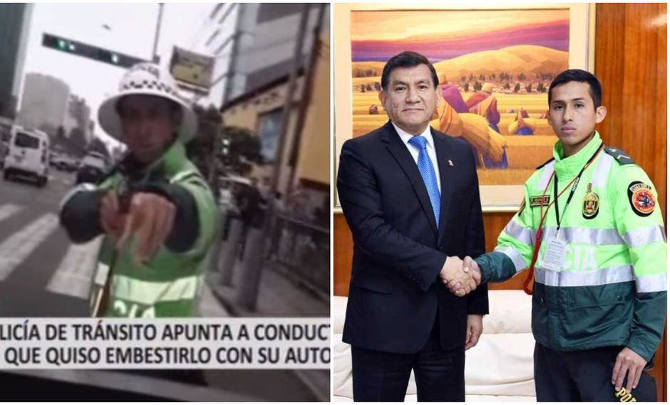 Morán reconoció la firmeza con la que este agente hizo respetar el uniforme. (Agencia Andina)