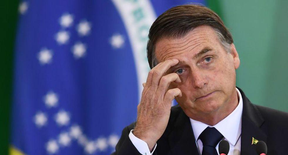 Brasil: Presidente Jair Bolsonaro dice que posiblemente tiene un cáncer de piel. (AFP)