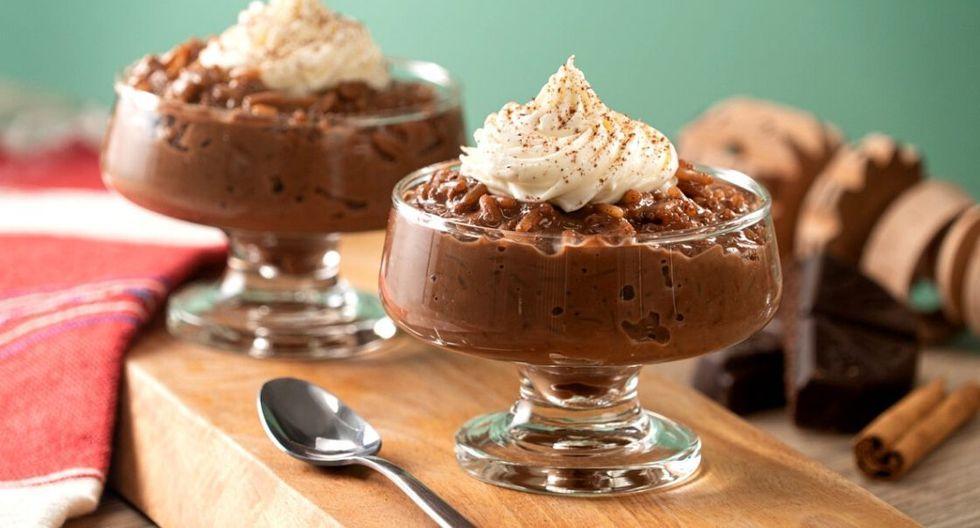 Arroz con leche con sabor a chocolate. (Foto: Kiwilimón)