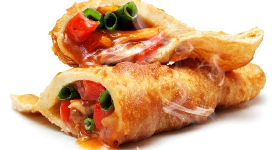 Cachanga rellena de pollo y trozos de piña. (Foto: Hectitor's del Norte)