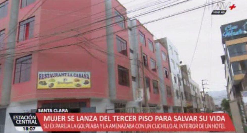 El hecho ocurrió en la zona de Santa Clara, en Ate. (ATV+)
